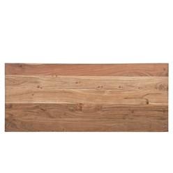 WOMO-DESIGN TV Lowboard mit 2 Schubladen, 100x50x40 cm, aus Akazien- und Schwellenholz mit Metallbeine