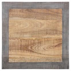 WOMO-DESIGN Beistelltisch natur, 50x50 cm, aus massives Mangoholz