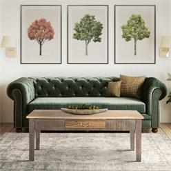 WOMO-DESIGN Couchtisch mit Schublade, 117x45.5x70 cm, aus massives Mangoholz