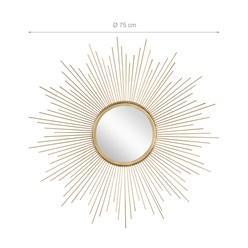 WOMO-DESIGN Dekorative Wandspiegel gold, Ø 75 cm, aus Glas mit Metallrahmen