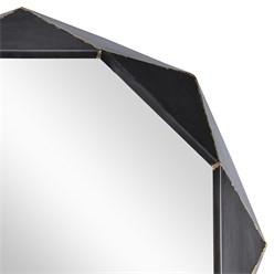 WOMO-DESIGN Dekorative Wandspiegel schwarz, Ø 84 cm, aus Glas mit Metallrahmen