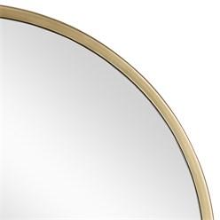 WOMO-DESIGN Dekorativer Wandspiegel gold, Ø 60 cm, aus Glas mit Metallrahmen