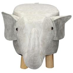 WOMO-DESIGN Tierhocker Elefant braun, 65x35x30 cm, aus Kunstleder