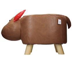 WOMO-DESIGN Tierhocker Kalb braun/rot, 68x30x37 cm, aus Kunstleder