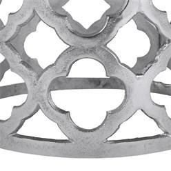 WOMO-DESIGN Beistelltisch Rhodos silber, Ø 36x40 cm, aus Aluminium mit Nickelbeschichtung