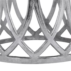 WOMO-DESIGN Beistelltisch Korinth silber, Ø 36x40 cm, aus Aluminium mit Nickelbeschichtung