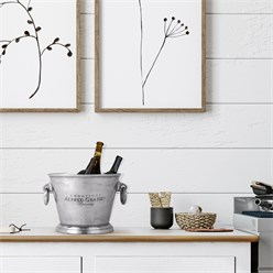WOMO-DESIGN Champagnerkühler silber, Ø 26x21 cm, aus Aluminium