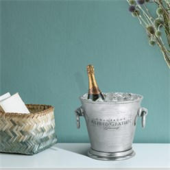 WOMO-DESIGN Champagnerkühler silber, Ø 24x23 cm, aus Aluminium