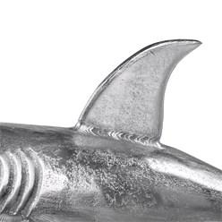 WOMO-DESIGN Hai-Skulptur silber, 68x39 cm, mit Nickel Finish, aus Aluminium