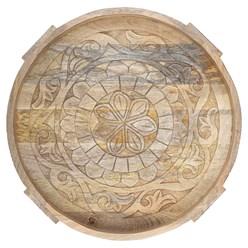 WOMO-DESIGN Couchtisch natur, Ø 60x30 cm, aus massivem Mangoholz und MDF