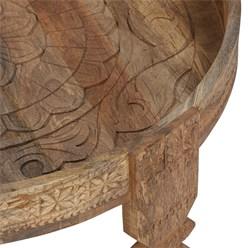 WOMO-DESIGN Couchtisch natur, Ø 80x30 cm, aus massivem Mangoholz und MDF
