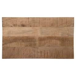 WOMO-DESIGN Nachttisch natur mit 3 Schubladen, 58x60x35 cm, aus massives Mangoholz und MDF