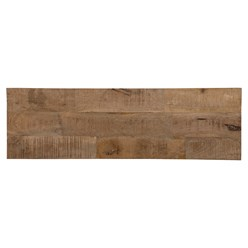 WOMO-DESIGN Konsolentisch braun mit 2 Schuladen, 76x132x40 cm, aus massivem Mangoholz und MDF