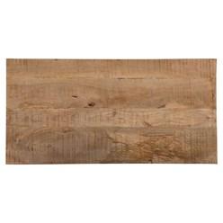 WOMO-DESIGN Esstisch braun, 120x77x60 cm, aus massivem Mangoholz und MDF