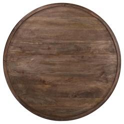 WOMO-DESIGN Couchtisch braun, Ø 100x45 cm, aus Mangoholz