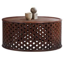 Couchtisch Ø 100x45 cm braun aus Mangoholz WOMO-Design
