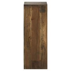 WOMO-DESIGN 2er Set Dekosäulen, quadratisch, braun, aus Akazienholz