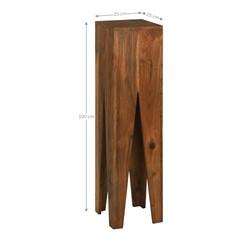WOMO-DESIGN 3er Set Dekosäulen, quadratisch, braun, aus Akazienholz