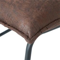 WOMO-DESIGN Loungesessel braun, 85x63x76 cm, aus Microfaser Rawhide