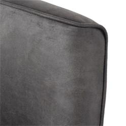 WOMO-DESIGN Loungesessel mit Armlehne graphite, 76x76x74 cm, aus Microleder mit Veloursoptik