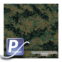 Wassertranferdruck Film WTP-272 | 100cm TIGER STRIPE-WOODLAND DIGITAL