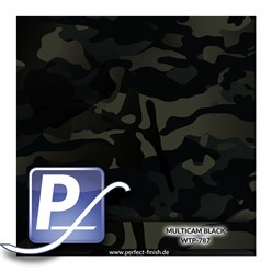 Wassertransferdruck Film WTP-787 | 100cm MULTICAM BLACK