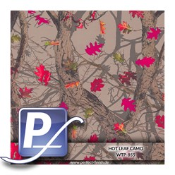Wassertranferdruck Film WTP-855 | 100cm HOT LEAF CAMO