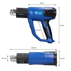 Heißluftpistole 2000 Watt mit LCD-Anzeige inkl. Zubehör-Set