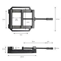 Maschinen-Schraubstock Backenbreite 200 mm Spannweite 200 mm