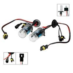 Kit 2x feux phare xénon ampoule H4 55W 6000K blanc lampe vision HID pour voiture