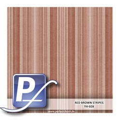 Wassertransferdruck Film YH-028 | 60cm RED BROWN STRIPES
