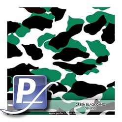 Wassertransferdruck Film YH-053 | 60cm GREEN BLACK CAMO