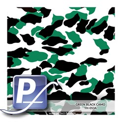 Water Transfer Printing film YH-053A | 60cm GREEN BLACK CAMO