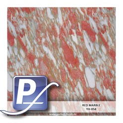 Wassertransferdruck Film YH-058 | 60cm RED MARBLE