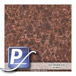 Wassertransferdruck Film YH-065A | 50cm LIGHT BROWN BURL