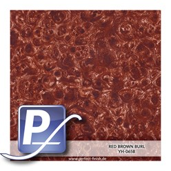 Water transfer printing film YH-065B | 50cm RED BROWN BURL