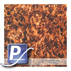 Wassertransferdruck Film YH-081 | 60cm RED BROWN BURL