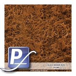 Wassertransferdruck Film YH-085 | 60cm BLACK BROWN BURL