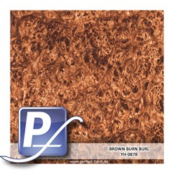 Wassertransferdruck Film YH-087B | 60cm BROWN BURN BURL