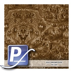 Water Transfer Compression Film YH-103 | 50cm GOLD BROWN BURL