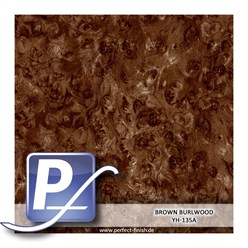Water Transfer Compression Film YH-135A | 50cm BROWN BURL WOOD