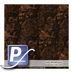 Water Transfer Compression Film YH-136 | 50cm DARK BROWN BURL