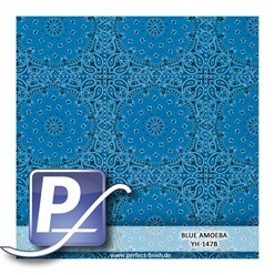 Water transfer printing film YH-147B | 50cm BLUE AMOEBA