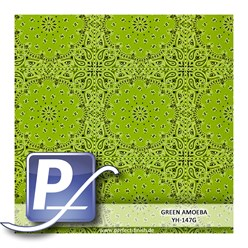 Water transfer printing film YH-147G | 50cm GREEN AMOEBA