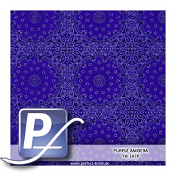Water transfer printing film YH-147P | 50cm PURPLE AMOEBA