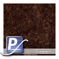 Water Transfer Compression Film YH-155B1 | 60cm DARK BROWN BURL