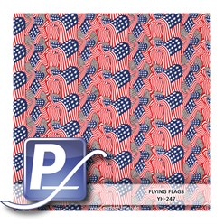 Water transfer printing film YH-247 | 50cm FLYING FLAGS