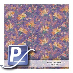 Wassertransferdruck Film YH-358B | 60cm PURPLE FLOWER