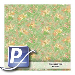 Water Transfer Compression Film YH-358D | 50cm GREEN FLOWER