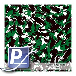 Wassertransferdruck Film YH-402 | 60cm GREEN BLACK CAMO